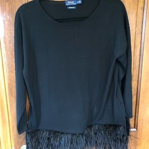 Ralph Lauren wool sweater with feathers